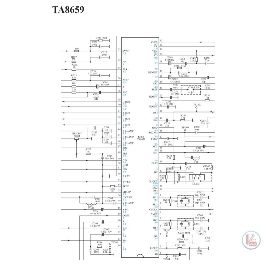 TA8659CN; Jungle IC 8