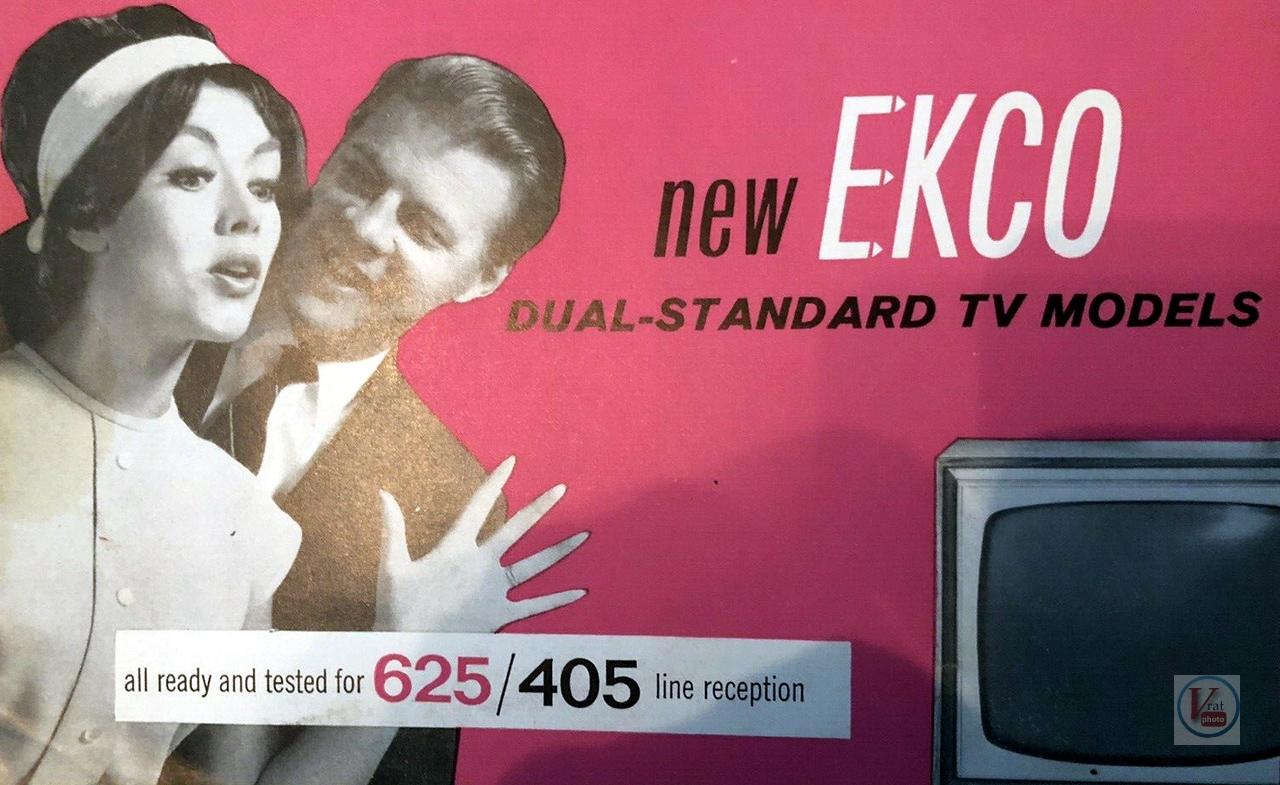 EKCO B&W TV's 61