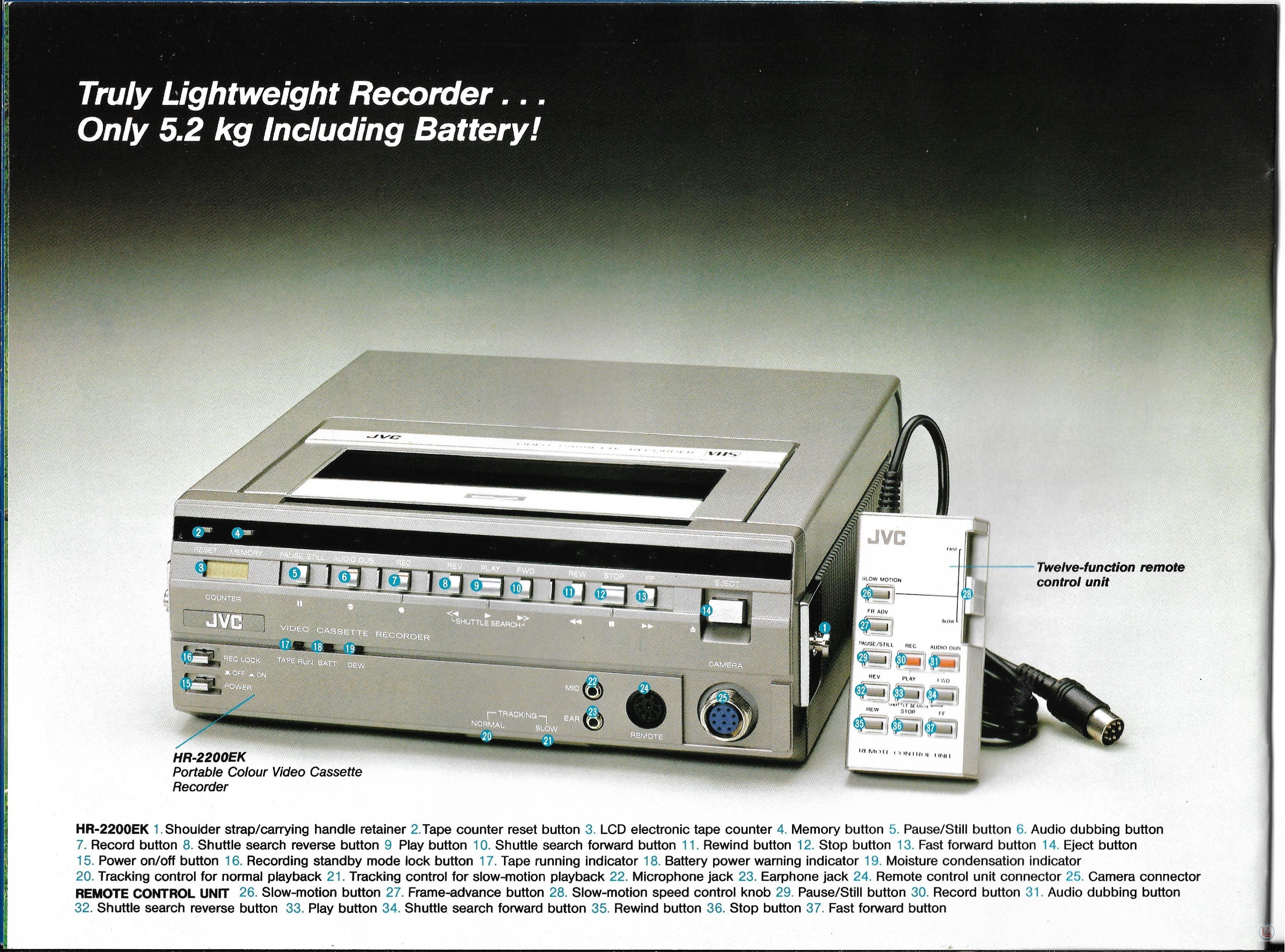 JVC Video Recorders 61
