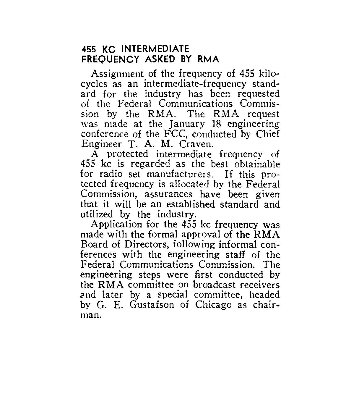 Radio Receiver Intermediate Frequencies – Page 5 – Domestic